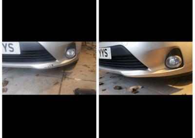 Front bumper silver